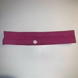 Heathered Berry Pink lululemon Headband